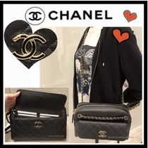 CHANEL MATELASSE Casual Style Calfskin 2WAY Plain Shoulder Bags