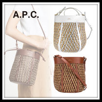 A.P.C. Leather Purses Bucket Bags