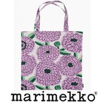 marimekko Flower Patterns Casual Style Unisex A4 Totes