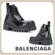 BALENCIAGA Other Animal Patterns Leather Engineer Boots