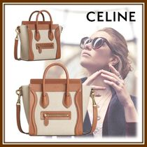 CELINE Luggage Casual Style Calfskin Lambskin 2WAY Party Style Office Style