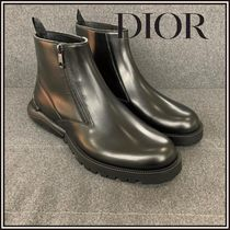 Christian Dior Street Style Plain Leather Boots