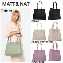 MATT&NAT Casual Style A4 2WAY Plain Office Style Satchels