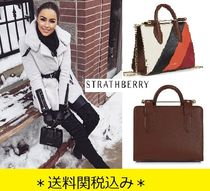 STRATHBERRY Stripes Casual Style 2WAY Bi-color Chain Leather