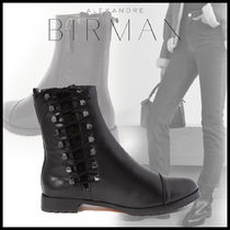 Alexandre Birman Plain Leather Elegant Style Ankle & Booties Boots