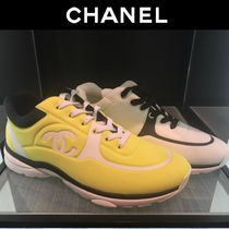 CHANEL Logo Sneakers