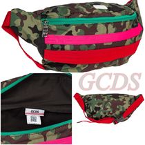 GCDS Camouflage Casual Style Unisex Shoulder Bags