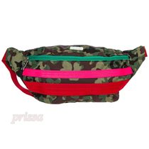 GCDS Camouflage Casual Style Unisex Logo Shoulder Bags