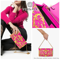 VERSACE Casual Style Blended Fabrics 3WAY Bi-color Chain Leather