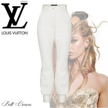 Louis Vuitton Wool Silk Nylon Plain Long Skinny Pants
