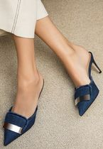 Sergio Rossi Casual Style Plain Office Style Mules Heeled Sandals