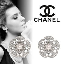 CHANEL Costume Jewelry Casual Style Unisex Flower Street Style