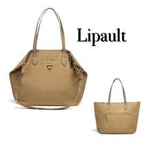 Lipault Casual Style Unisex A4 2WAY Plain Office Style Totes
