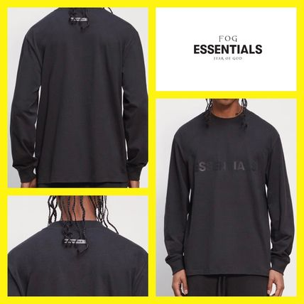 FEAR OF GOD ESSENTIALS Crew Neck Unisex Street Style Long Sleeves Plain Cotton