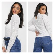 Miss Selfridge Casual Style Long Sleeves Plain Medium Lace Office Style
