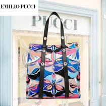 Emilio Pucci Casual Style Calfskin Office Style Elegant Style Totes