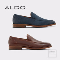ALDO Loafers Suede Plain Leather U Tips Oversized