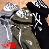 THE NORTH FACE Long Sleeves Plain Cotton Logo Hoodies
