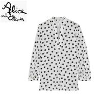 Alice+Olivia Dots Casual Style Cropped Office Style Shirts & Blouses