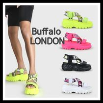 Buffalo LONDON Stripes Platform Casual Style Street Style Leather