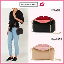 Lulu Guinness Casual Style Leather Elegant Style Shoulder Bags