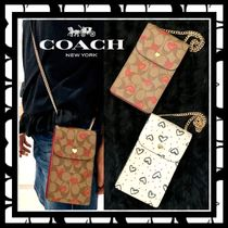Coach SIGNATURE Monogram Casual Style Canvas Bag in Bag 2WAY 3WAY Chain
