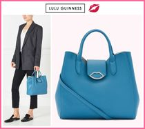 Lulu Guinness Casual Style Leather Elegant Style Handbags