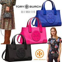 Tory Burch ELLA TOTE Casual Style Nylon 2WAY Plain Party Style Office Style