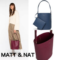 MATT&NAT Casual Style Nylon Plain Handbags