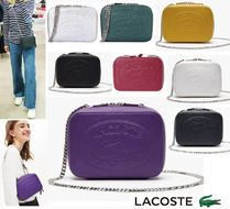LACOSTE Casual Style Street Style 2WAY Chain Plain Leather