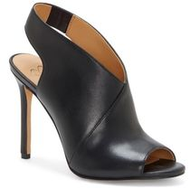 Jessica Simpson Open Toe Casual Style Faux Fur Plain Leather Pin Heels