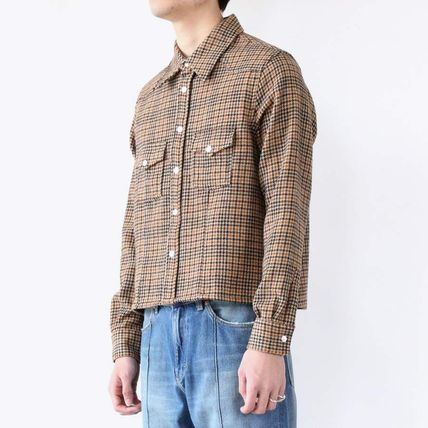 Glen Patterns Other Plaid Patterns Wool Long Sleeves Shirts