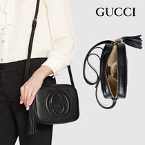 GUCCI Soho Casual Style Calfskin Street Style Party Style Office Style