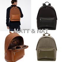 MATT&NAT Casual Style Nylon A4 Plain Backpacks