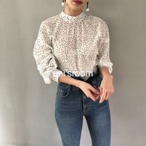 Short Dots Casual Style Long Sleeves Medium Office Style