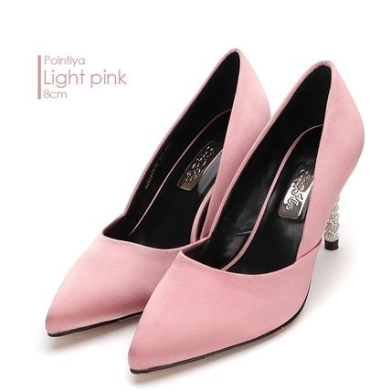 Argile Plain Toe Street Style Plain Leather Pin Heels