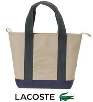 LACOSTE Casual Style Unisex Street Style Plain PVC Clothing Totes