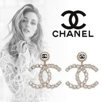 CHANEL Costume Jewelry Casual Style Unisex Street Style Party Style
