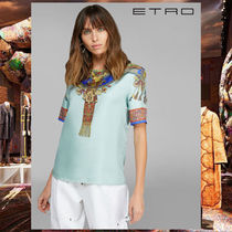 ETRO Silk Short Sleeves Elegant Style Shirts & Blouses