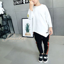 Street Style Asymmetry Kids Boy Tops