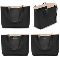 CUYANA Plain Leather Office Style Elegant Style Totes
