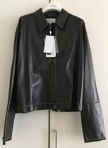 Maison Margiela Unisex Leather Biker Jackets