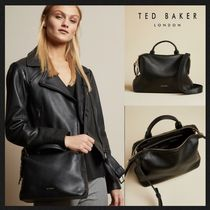 TED BAKER Casual Style Plain Leather Office Style Elegant Style Totes