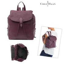 Cole Haan 2WAY Plain Leather Backpacks