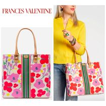 FRANCIS VALENTINE Stripes Flower Patterns Casual Style 2WAY Totes