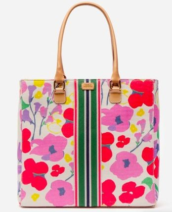 Stripes Flower Patterns Casual Style 2WAY Crossbody Logo