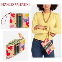 FRANCIS VALENTINE Stripes Flower Patterns Casual Style Clutches