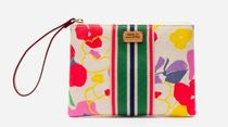 FRANCIS VALENTINE Stripes Flower Patterns Casual Style Logo Clutches