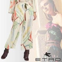 ETRO Printed Pants Casual Style Silk Medium Short Length