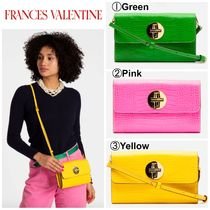 FRANCIS VALENTINE Casual Style 2WAY Plain Leather Shoulder Bags